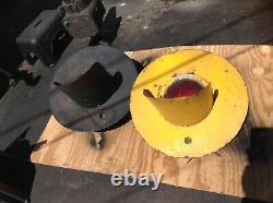 1 Rare Old Antique Railroad Crossing Lantern RR Gate Light Dome Single Yellow A1