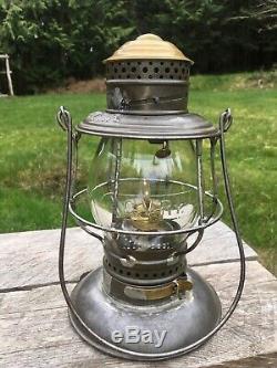 1870's CVRR Central Vermont Railroad Lantern Adams & Westlake Patent Bottom