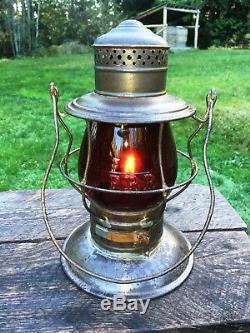 1875 PRR Pennsylvania Railroad Lantern Brass Top R. R. Signal Lamp & Lantern RCG