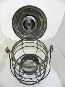 1897 SOUTHERN PACIFIC RAILROAD LANTERN Clear Cast SPCo EB Lantern Globe