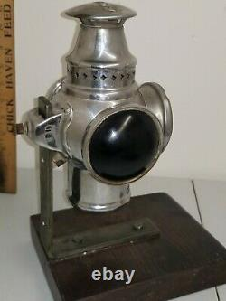 1907 Antique Non-Sweating Adlake Railroad Lamp Lantern 3 Way Signal RR