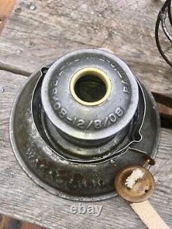 1908 WABASH Railroad Lantern Handlan Buck MFG. Clear Cast Flag Globe