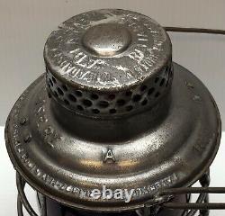 1913 Adams Reliable Elgin Joliet and Eastern Railway Tall Bell Bottom Lantern