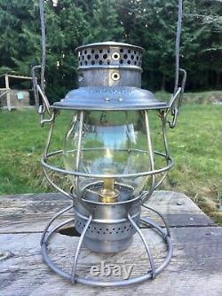 1913 Antique P&PU Peoria & Pekin Union Railroad Lantern A&W Reliable CNX CUG