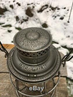 1913 DL&W Delaware Lackawanna & Western Railroad Lantern CCG A&W New Old Stock