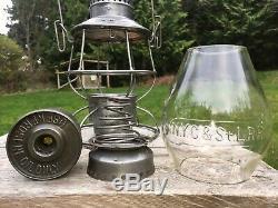 1913 NYC&StL New York Chicago & St Louis Railroad Lantern A&W Cast Globe