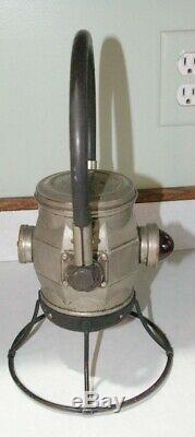 1920's-30's Ecolite Economy Electric Railroad Lamp Lantern Chicago Red lens