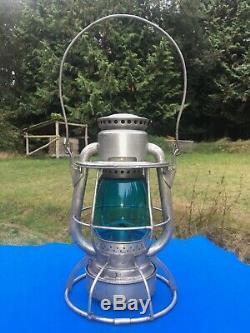 1924 CVRy Central Vermont Railroad Lantern Hi Top Dietz Vesta Signal Green Globe