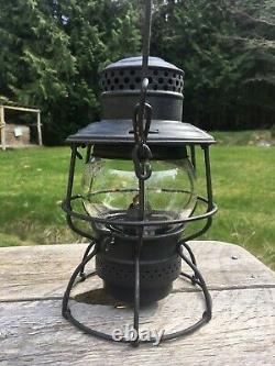 1934 SO Southern Railroad Lantern Adlake 300 Double Marked Original Etched Globe