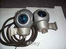 2 Vintage Pyle 4 Sided Railroad Train Caboose Light Train Signal Lantern Lamp
