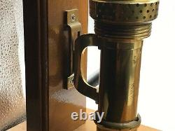 2Antique Brass 1907 Adams & Westlake Wall Mount Railroad Car Candle Sconce Lamps