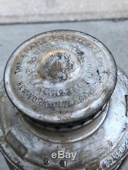A T & Santa Fe Railroad Adams Westlake Lantern Short Clear Globe withGlass/Wick