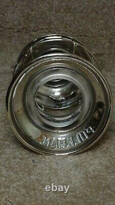 ADLAKE PULLMAN CONDUCTOR RAILROAD LANTERN WithCLEAR GLOBE ETCHED P. Co. (9)