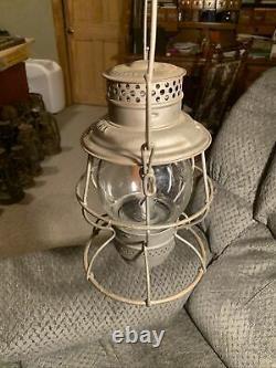 Adams&Westlake Adlake Reliable N&W Ry Railroad Lantern & Embossed Clear Globe