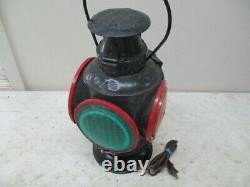 Adlake 4 Way Non Sweating Railroad Lantern- Electrified Lamp