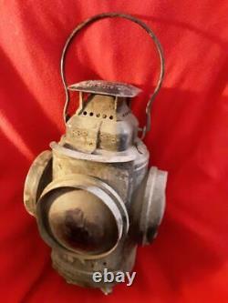 Adlake Lamp Lantern 4 Way Railroad Switch Train Signal