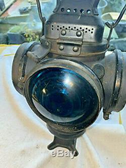 Adlake Lamp Lantern 4 lens 2 way indication Railroad Switch Signal Train