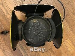 Adlake Non Sweating 4-Way Train Switch Marker Railroad Lamp Lantern Chicago