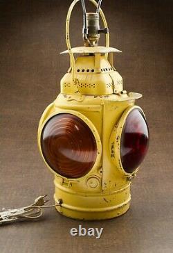 Adlake Non-Sweating Lamp Chicago 4 Lens RR Railroad Lantern Chicago L & N