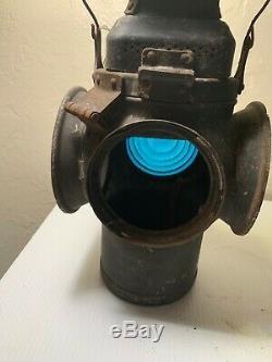 Adlake Non Sweating RR Lamp Railroad Switch Lantern Glass Lenses -3 missing part