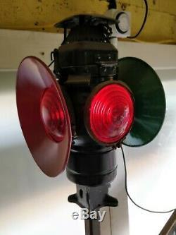 Adlake Non-Sweating Railroad Lamp Train Lamp Lantern 4 Way
