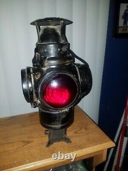 Adlake Non Sweating Railroad Switch Lamp Lantern Train Railway Light Chicago