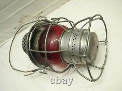 Adlake Red Globe RR Railroad Train Lantern Oil Lamp Kero Fluid Light