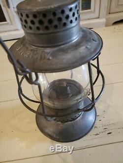 Antiq Dietz No. 38 Standard Bell-Bottom Emboss B. R. &P. RY. Globe Railroad Lantern