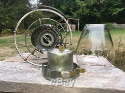 Antique 1889 ICRR Illinois Central Railroad Lantern A&W THE ADAMS Cast Globe