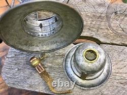 Antique 1893 CGW Chicago Great Western Railway Lantern Brass Top CCG CT HAM Co