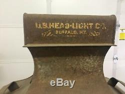Antique 19th century Railroad Steam Locomotive Train headlamp head light lantern