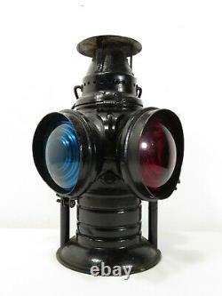 Antique ADLAKE NON SWEATING RAILROAD OIL LANTERN SWITCH LAMP Train Signal Sign