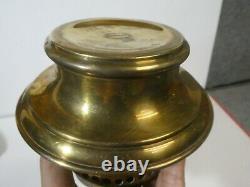 Antique Adams & Westlake Brass Railroad Oil Lamp Lantern With Double Wick Burner