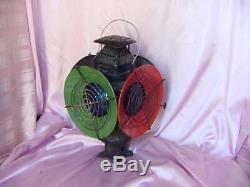 Antique Adlake Non Sweating 4 Way Railroad Switch Lamp Vintage Signal Lantern