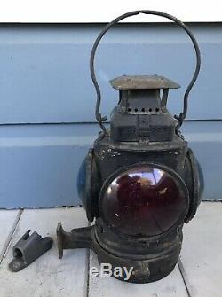 Antique Adlake Non Sweating GNRY Great Northern Railroad Caboose Lantern Lamp