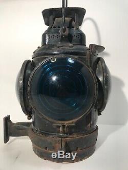 Antique Adlake Non-Sweating Lamp Railroad Switchmans Signal Lantern Chicago