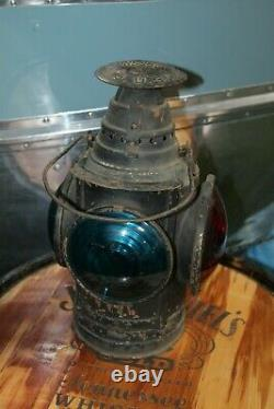 Antique Arlington Dressel 4 way Railroad Signal, Kerosene Lamp Lantern N. J USA