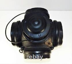 Antique Armspear Mfg Co Railroad Switch Lantern 4 Lens COMPLETE! D. 1919 w Burner