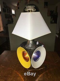 Antique B & O Railroad 4 Way Train Switch Signal Lantern Table Lamp-dressel Nj