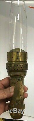 Antique Brass 1907 Adlake Train Railway Caboose Wall Sconce Lamp Free Shipping