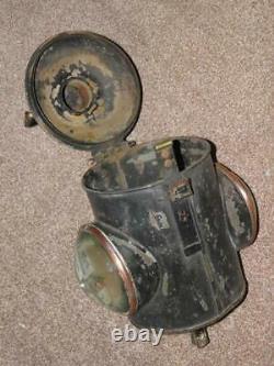 Antique British Railway Locomotive Train Engine Bullseye Double Glass Headlamp