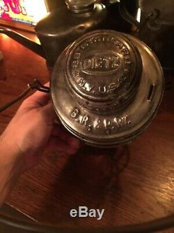 Antique Buffalo Rochester & Pittsburgh Railroad Lantern BR&PRy Embossed Globe