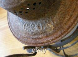Antique C&O RY Lantern. Chesapeake & Ohio Railway. 1913. Cast Tall Globe. RARE