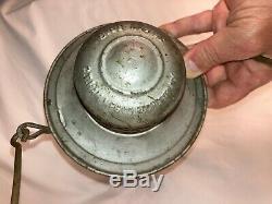 Antique C. T. Ham Bell Bottom Railroad Lantern 39 Railroad Pat. 1893