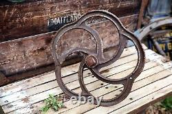 Antique Cast Iron Locomotive Train Railway Pinwheel Railroad Brake Wheel withShaft