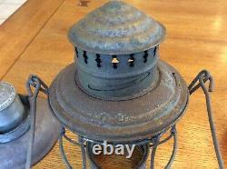 Antique Chicago, Milwaukee, St. Paul Railroad lantern Adams & Westlake May 1895
