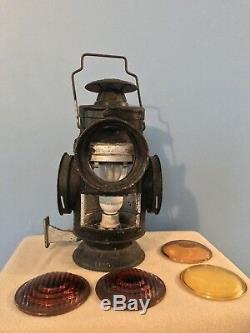 Antique D&H Delaware & Hudson Railroad Dressel 15.5 Caboose Mount Lamp Lantern