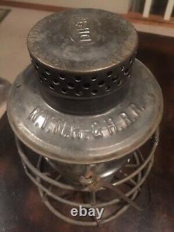 Antique DIETZ globe Embossed NY NH & H Railroad Lantern