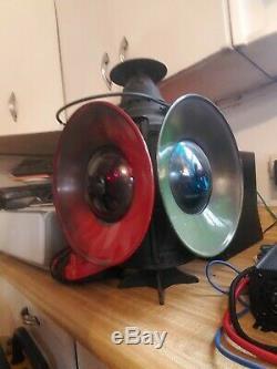 Antique DRESSEL 4 Way Railroad Train Switch Signal Lantern