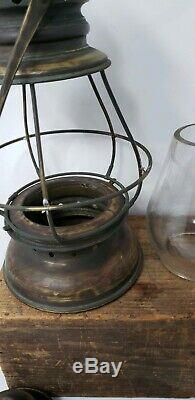 Antique Dane & Westlake Co. Railroad RR Conductor Lantern 1865 brass patent
